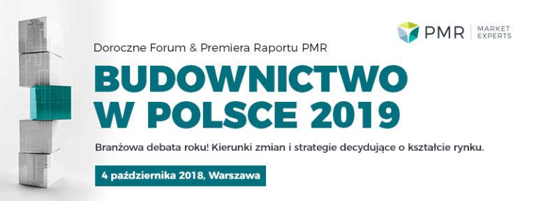 Forum Budownictwo w Polsce 2019,  4 października 2018, Hotel Renaissance Airport, Warszawa