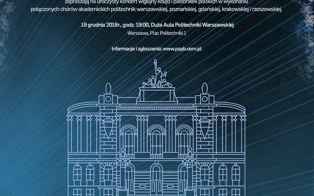 Uroczysty Koncert Wigilijny w Auli Głównej Politechniki Warszawskiej – to już dziś!